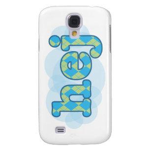 Swedish - Hej with argyle pattern Samsung Galaxy S4 Case