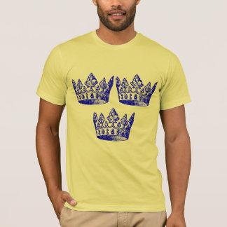 Swedish Hockey Crown Remix Art T-Shirt