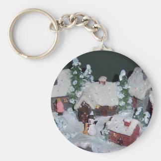 Swedish Holiday Winter Scene Key Chains