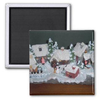 Swedish Holiday Winter Scene Fridge Magnets