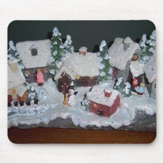 Swedish Holiday Winter Scene Mouse Pad