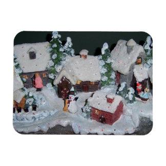 Swedish Holiday Winter Scene Rectangle Magnet