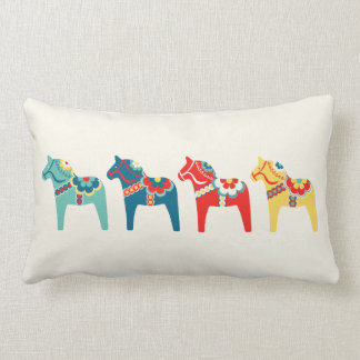Swedish Horses Lumbar Pillow