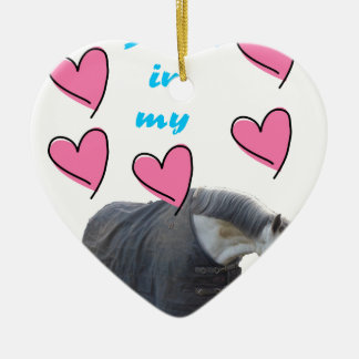 Swedish Institute nests IN MY HEART! pc UFF Double-Sided Heart Ceramic Christmas Ornament