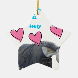 Swedish Institute nests IN MY HEART! pc UFF Double-Sided Star Ceramic Christmas Ornament