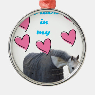 Swedish Institute nests IN MY HEART! pc UFF Round Metal Christmas Ornament