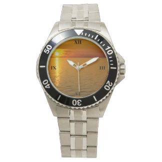 Swedish Islands Sunset Wrist Watch