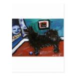 Swedish Lapphund senses smiling moon Post Card