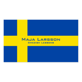 Swedish Lessons / Swedish Teacher Business Card