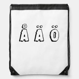 Swedish letters (å ä ö) drawstring backpack