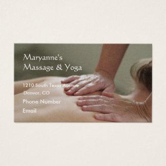 Swedish Massage Photo - Back Business Card