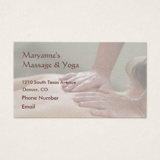 Swedish Massage Photo - Back (screened back photo) Business Card