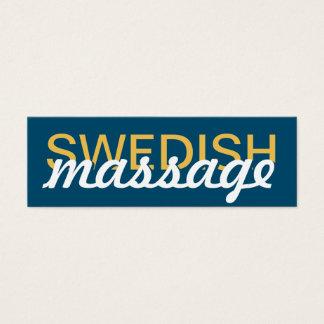 swedish massage punch card