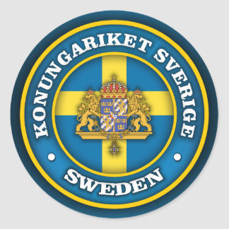 Swedish Medallion Classic Round Sticker