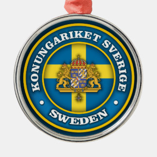 Swedish Medallion Metal Ornament