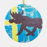 Swedish Moose Christmas Tree Ornament