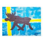 Swedish Moose Postcard