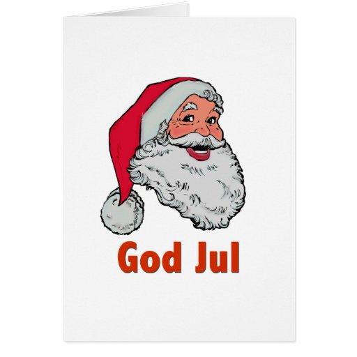 Swedish/Norwegian Santa Cards