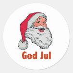 Swedish/Norwegian Santa Sticker