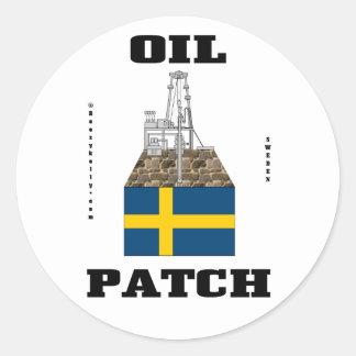 Swedish Oil Fields Sticker,Swedish Flag,Oil,Gas Classic Round Sticker
