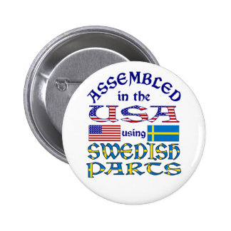 Swedish Parts Pinback Buttons