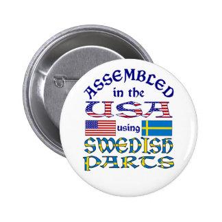 Swedish Parts Pinback Buttons