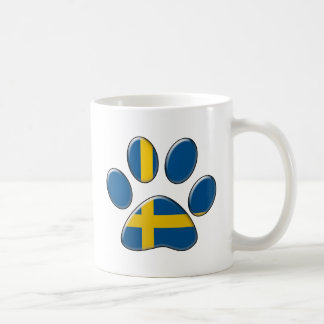 Swedish patriotic cat coffee mug