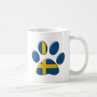 Swedish patriotic cat coffee mug