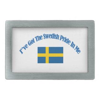 swedish patriotic flag designs rectangular belt buckles