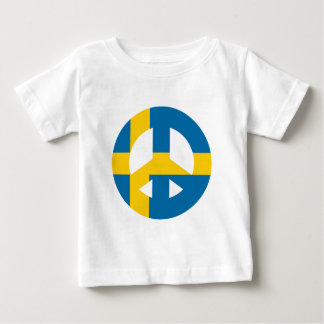 Swedish Peace Sign Baby T-Shirt