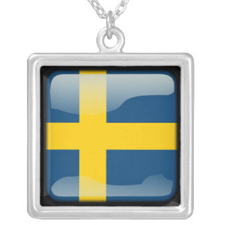 Swedish polished silver plated necklace
