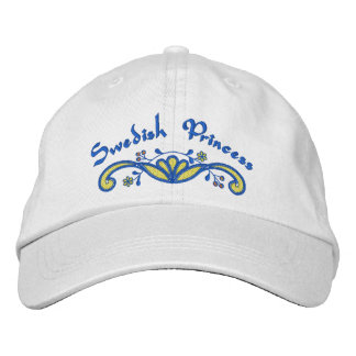 Swedish Princess Scandinavian Embroidered Baseball Hat