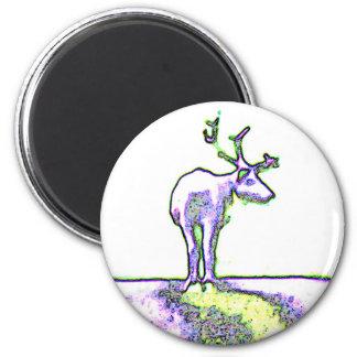 Swedish Reindeer 2 Inch Round Magnet