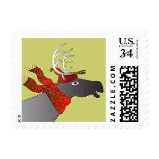 Swedish reindeer Christmas postage