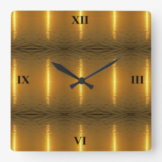 Swedish Ripples Square Wall Clock