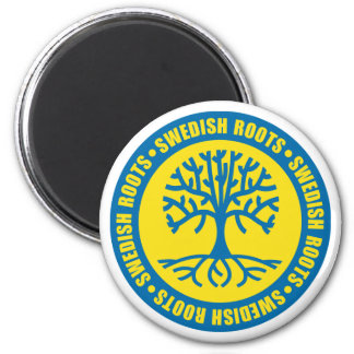 Swedish Roots 2 Inch Round Magnet
