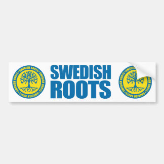 Swedish Roots Bumper Sticker