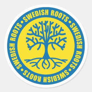 Swedish Roots Round Stickers