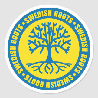 Swedish Roots Round Stickers