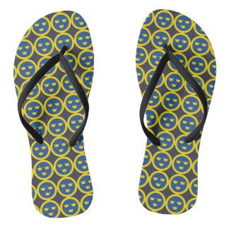 Swedish Roundel Flip Flops
