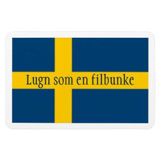 Swedish Saying Flag Theme Lugn Som En Filbunke Rectangular Photo Magnet