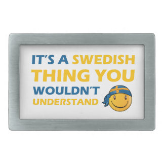 swedish smiley design rectangular belt buckle