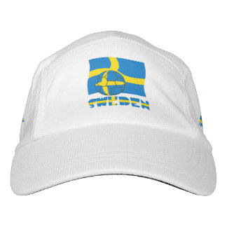 Swedish Soccer Ball and Flag Hat