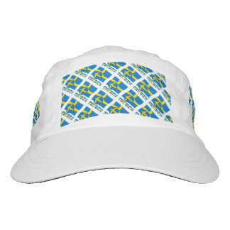 Swedish Soccer Ball and Flag Headsweats Hat