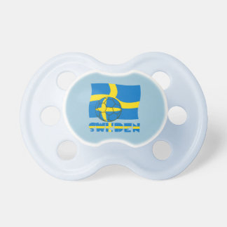 Swedish Soccer Ball and Flag Pacifier