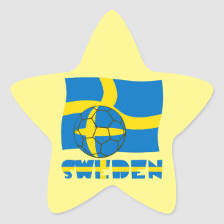 Swedish Soccer Ball and Flag Star Sticker