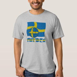Swedish Soccer Ball and Flag Tee Shirt