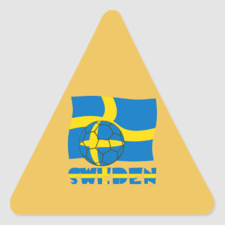 Swedish Soccer Ball and Flag Triangle Sticker