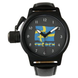 Swedish Soccer Ball and Flag Wristwatch
