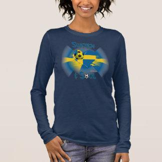 Swedish Soccer Soul Ladies Long Sleeve Shirt